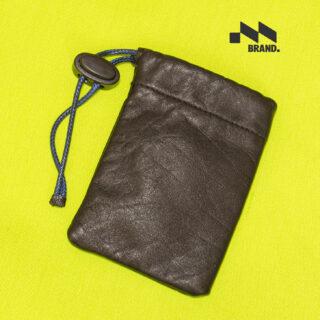 کیف هندزفری مشکی برند چرم طبیعی گاوی مدل انزو 013