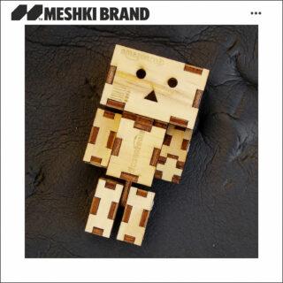اکشن فیگور مشکی برند طرح دانبو چوبی مدل Ck008 ارتفاع 11 سانتی متر Meshkibrand Action Figure Danbo Amazon 11cm CK008 Wooden