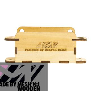 استند قلم و دفترچه رومیزی چوبی مشکی برند مدل پی اس 008 Pen Stand Wooden Meshkibrand PS008