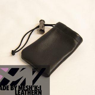 کیسه هندزفری چرم مشکی برند مدل سی کا 008 Handsfree Bag Leathern CK008