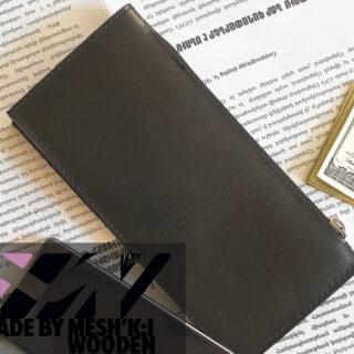 کیف جیبی پاسپورتی مشکی چرم مدل ایکس تی 009 Passport Wallet XT009 2019