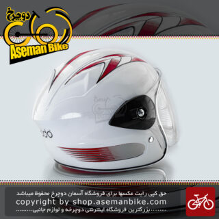 کلاه بچگانه موتوری نقاب دار برند ردو سفید و قرمز Reddo Kids Helmet White & Red