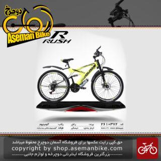 دوچرخه راش سایز 26 21 دنده دو کمک دیسکی مدل72 rush bicycle 26 21 speed dual shock disc 72 2019