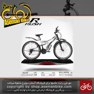 دوچرخه راش سایز 26 21 دنده دو کمک لغمه ای مدل99 rush bicycle 26 21 speed dual shock vb 99 2019