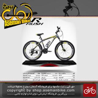 دوچرخه کوهستان شهری راش 21 دنده شیمانو تورنی مدل آر 210 سایز 26تنه آلمینیوم ساخت تایوانrush bicycle 26 21 speed shimano tourney aluminum vb r210 2019