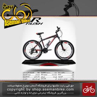 دوچرخه کوهستان شهری راش 21 دنده شیمانو تورنی مدل آر 310 سایز 26تنه آلمینیوم ساخت تایوانrush bicycle 26 21 speed shimano tourney aluminum vb r310 2019