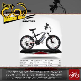 دوچرخه کوهستان سانتوزا 21 دنده شیمانو تورنی تنه آلومینیوم سایز 20 مدل اس500 santoza bicycle 20 21 speed shimano tourney tz aluminum vb s500 2019