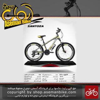 دوچرخه کوهستان سانتوزا 21 دنده شیمانو تورنی تنه آلومینیوم سایز 24مدل اس410 santoza bicycle 24 21 speed shimano tourney tz aluminum vb s410 2019