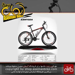 دوچرخه کوهستان سانتوزا 21 دنده شیمانو تورنی تنه آلومینیوم سایز 26مدل اس210 santoza bicycle 26 21 speed shimano tourney tz aluminum vb s210 2019