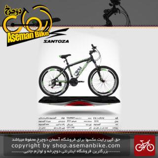 دوچرخه کوهستان سانتوزا 21 دنده شیمانو تورنی تنه آلومینیوم سایز 26مدل اس310 santoza bicycle 26 21 speed shimano tourney tz aluminum vb s310 2019