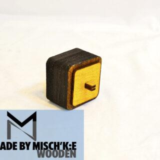 باکس چوبی کشابی مشکی برند مدل ایکس تی 008 Wooden Mini Box XT008 2019