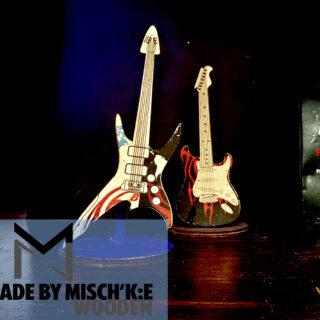 دکوراسیون چوبی گیتار مشکی برند مدل ایکس تی 008 2019 Decorative Wooden Guitar XT008 2019