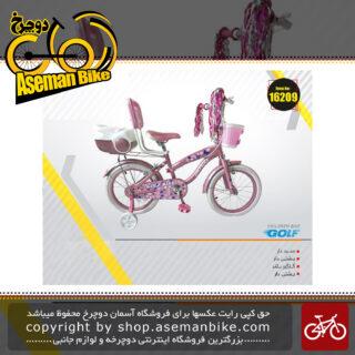 دوچرخه دخترانه گلف صندق دار وسبد دار پشتی دار سایز 16 GOLF Bicycle Size 16 2019