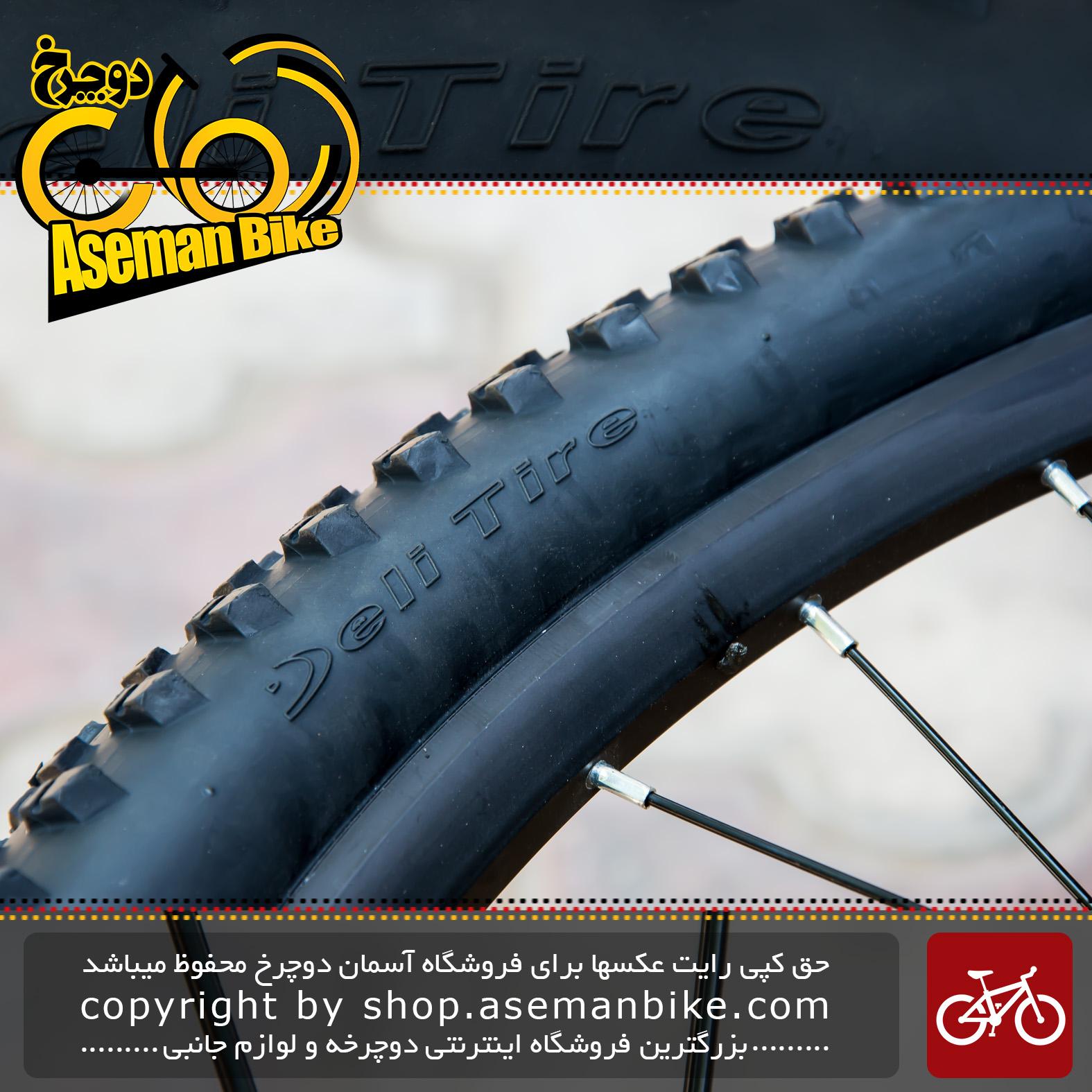 لاستیک تایر دوچرخه سایز 27.5 در 2.10 برند دلی استاندارد ژاپن ساخت اندونزی مدل اس ای 258 Tire Bicycle Deli 27.5x2.10 650x54B 54-584 SA-258