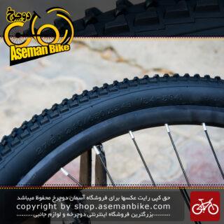 لاستیک تایر دوچرخه سایز 27.5 در 2.10 برند دلی استاندارد ژاپن ساخت اندونزی مدل عاج ریز Tire Bicycle Deli 27.5x2.10 650x54B 54-584