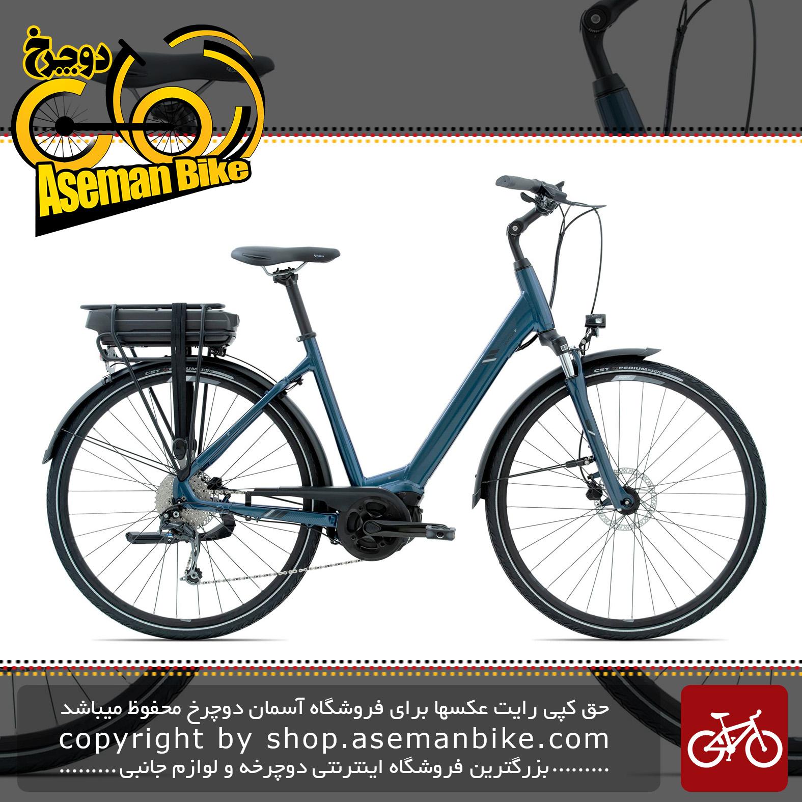 دوچرخه برقی توریستی ترنزیت جاینت مدل انتور ای پلاس 1 آر اس ال دی اس 2020 Giant Transit Bicycle Entour E+ 1 RS LDS 2020