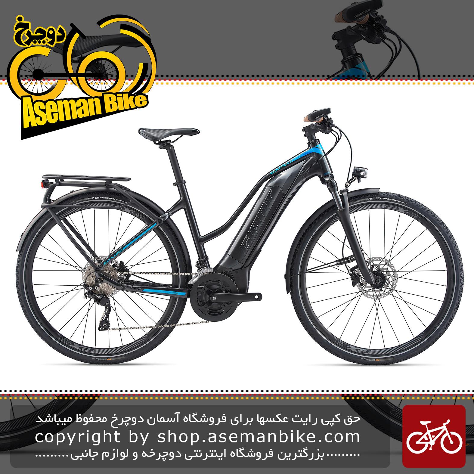 دوچرخه دومنظوره برقی جاینت مدل اکسپلور ای پلاس 1 اس تی ای 2020 Giant Trekking Bicycle Explore E+ 1 STA 2020