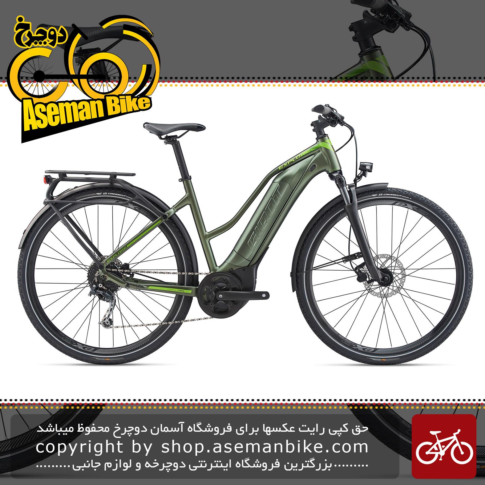 دوچرخه دومنظوره برقی جاینت مدل اکسپلور ای پلاس 3 اس تی ای 2020 Giant Trekking Bicycle Explore E+ 3 STA 2020