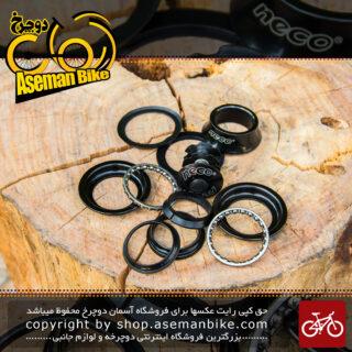 هد ست دوچرخه برند نکو اور سایز بهمراه فاصله دهنده فرمان و کرپی Head Set Bicycle Over size Neco Brand With Space