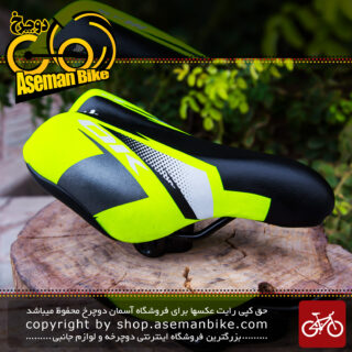 زین دوچرخه بچه گانه برند اوکی سایز 12 زرد لیمویی OK Kids Bicycle Saddle 12