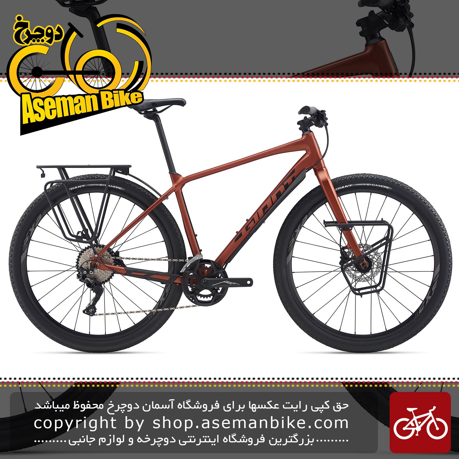 دوچرخه شهری توریستی جاینت مدل تافروود اس ال آر 1 2020 Giant Adventure Bicycle ToughRoad SLR 1 2020