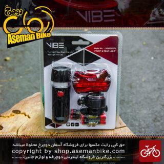 ست چراغ ال ای دی جلو و عقب دوچرخه برند وایب مدل لایت وی بی 0070 Bicycle Light Set Vibe Brand LightVB0070