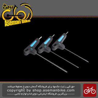 ست آچار آلن دوچرخه پرو سایز 2/2.5/3 مدل 0089 Pro T-wrench set 2/2.5/3 PRTL0090