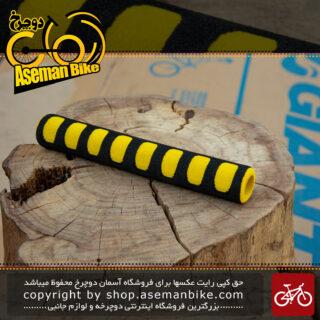 گریپ فوم دوچرخه برند ترکام ساخت تایوان زرد Tercom Foam Grip Taiwan