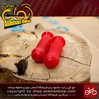 گریپ دوچرخه بچه گانه برند اوکی مدل 8014 قرمز Kids Bicycle Grip OK Brand 8014