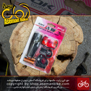 ست چراغ جلو و عقب دوچرخه برند اوکی مدل ایکس سی 785783 Bicycle Light Set Front And Rear OK Brand XC-785783