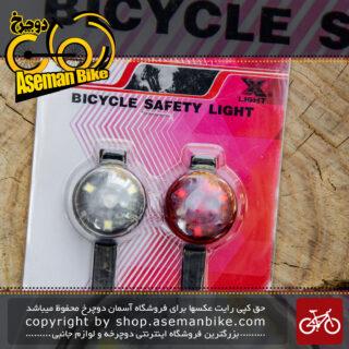 ست چراغ جلو و عقب دوچرخه برند اوکی مدل ایکس سی 218218 Bicycle Light Set Front And Rear OK Brand XC-218218