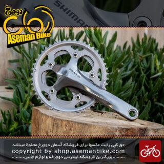 طبق قامه دوچرخه شیمانو مدل ایکس سی 50 Shimano Crankset XC50