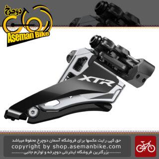 طبق عوض کن دوچرخه برند شیمانو مدل ایکس تی آر-ام 9100 ام SHIMANO XTR SIDE SWING Front Derailleur (Clamp Band Mount ) 2x12-speed
