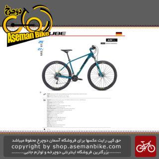 دوچرخه کوهستان کیوب مدل آیم اس ال فیروزه ای تیره و زرد لایت سایز 29 2019 CUBE Mountain Bicycle Aim SL 29 2019