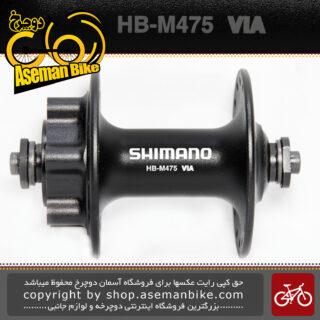 توپی دیسکی 32 سوارخ دوچرخه عقب و جلو شیمانو مدل ام 475 Front and Rear Hub Bicycle Shimano M475 Malaysia 32 Hole 6 Bolt Disc