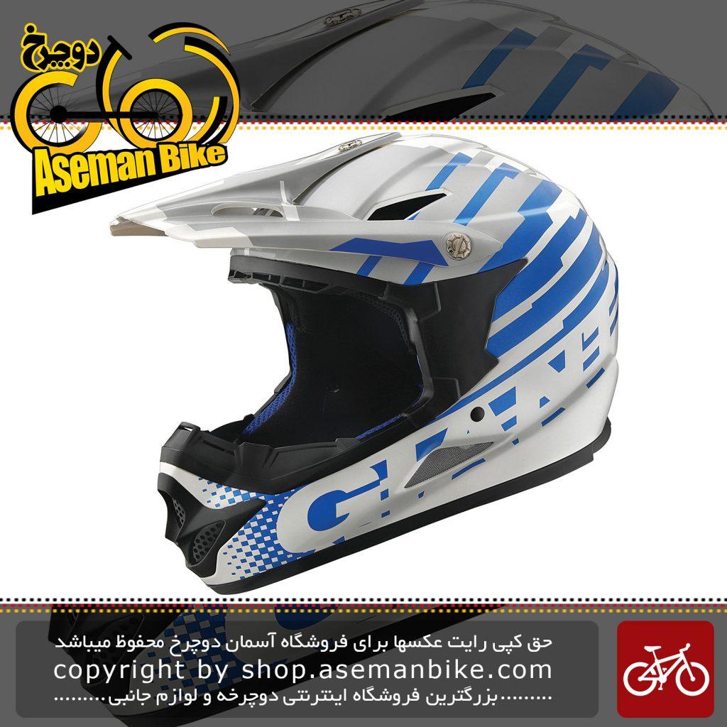 کلاه دوچرخه دانهیل جاینت مدل فاکتور رنگ آبی تیم سایز لارج/ایکس لارج 58 تا 62 سانتیمتر Giant Downhill Bicycle Helmet Factor Team Blue LG/XL 58-62cm 965g