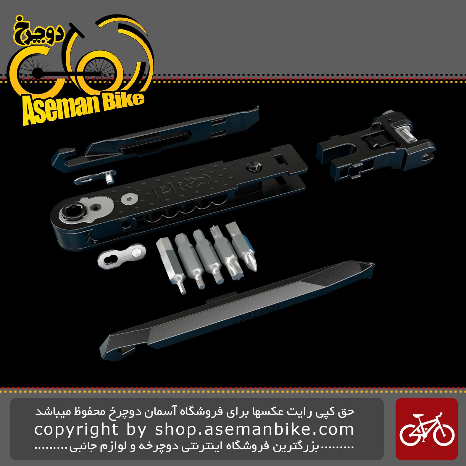 ست دسته ابزار مینی مخصوص دوچرخه پرو 13 کاره مدل 0099 PRO Integrated Mini Tool PRTL0099