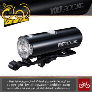 چراغ جلو شارژی دوچرخه کت آی برند ژاپن مدل ولت 200 لومن ایکس سی Cateye Volt 200 Lumens XC Headlight