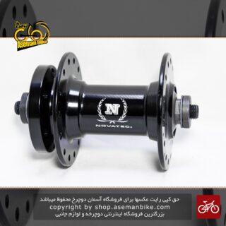 توپی جلو دوچرخه نواتک آلومینیومی 28 سوراخ 6 پیچ Front Hub Novatec orgiranl disc 6 bolt 28 hole