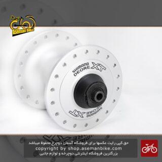 توپی جلو دوچرخه شیمانو آلومینیومی 32 سوراخ 6 پیچ Front Hub Shimano disc 6 bolt 32 hole