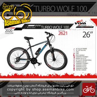 دوچرخه کوهستان شهری ویوا مدل توربو ولف 100 24 دنده شیمانو سایز 26 Viva Mountain City Bicycle Turbo Wolf 100 26 2020 26 2020