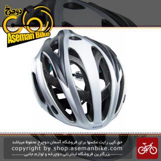 کلاه دوچرخه سواری جاینت مدل آرس سایز 58-61 نقره ای Giant Bicycle Helmet Ares 58-61