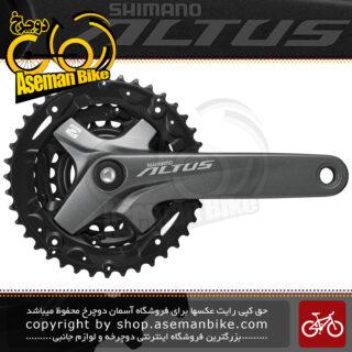 طبق قامه دوچرخه شیمانو آلتوس اف سی - ام 2000 3 سرعته 40 و 30 و 22 دندانه Shimano Crank FC-M2000 3 ALTUS 9-SP 40-30-22T