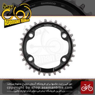 سینی طبق قامه دوچرخه شیمانو ایکس تی 10 و 11 سرعته اس ام - سی آر ام 81 32 دندانه Shimano XT 10-11-Speed Chainring SM-CRM81 32T for FC-M8000