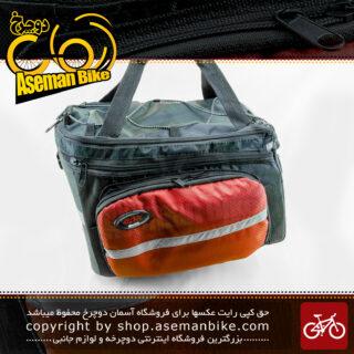 کیف خورجینی دوچرخه سی دی آر مدل اف هاش 7000.3 مشکی قرمز CDR Bicycle Bag FHash-7000.3