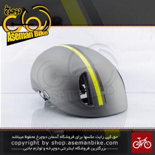 کلاه دوچرخه سواری جاینت مدل دیستریکت ساخت تایوان سایز 59-63 زرد/خاکستری Giant Bicycle Helmet District