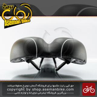 زین صندلی دوچرخه ولو اند زون ساخت تایوان مشکی سفید Velo Bicycle Saddle End-Zone