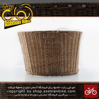 سبد مخصوص دوچرخه بافت توری جاینت مدل نیتروس 0130 قهوه ای Giant Bicycle Basket Nitros 0130