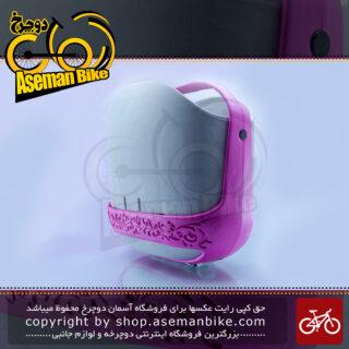 سبد دوچرخه جاینت مدل مامو نقره ای صورتی Giant Bicycle Basket MAMO