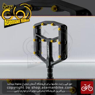 رکاب میخ دار دوچرخه جاینت پینر دی اچ فلت فوق سبک مشکی نقره ای Giant Pinner DH Flat Pedal